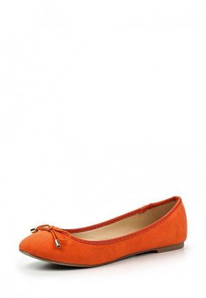 Балетки Dorothy Perkins. Цвет: оранжевый