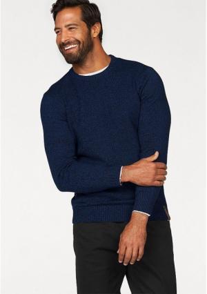 Пуловер MANS WORLD MAN'S. Цвет: оливковый/темно-синий меланжевый, синий/черный меланжевый