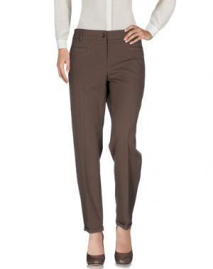 Повседневные брюки POIS. Цвет: хаки
