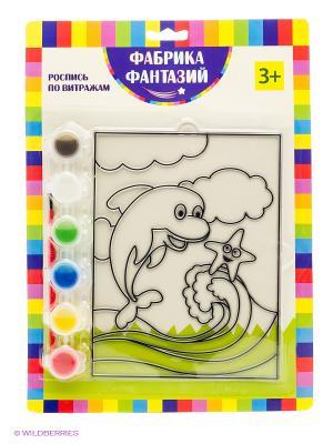 Набор для росписи витража Дельфин Фабрика Фантазий. Цвет: зеленый