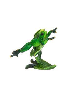 Фигурка декоративная Лягушка-чемпионка Elan Gallery. Цвет: зеленый