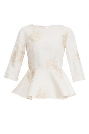 Блуза из шелка 156887 Nataniel Dobryanskaya. Цвет: бежевый