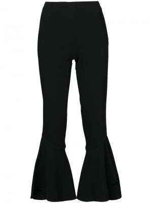 Укороченные расклешенные брюки Cinq A Sept. Цвет: чёрный