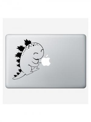 Наклейка для Macbook Air / Pro Dino (11 дюймов (диагональ экрана)) Kawaii Factory. Цвет: черный