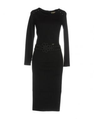 Платье до колена EUREKA. Цвет: черный