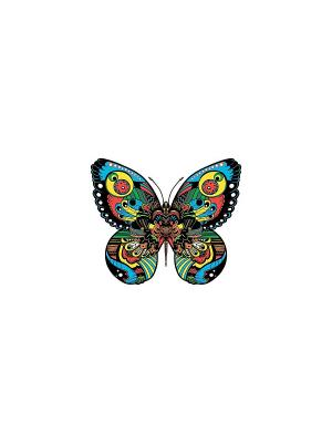 Временная переводная татуировка бабочка МнеТату. Цвет: голубой, сиреневый, фиолетовый, красный, желтый, черный, синий, зеленый, морская волна