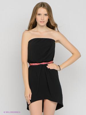 Платье Gaudi. Цвет: черный, розовый