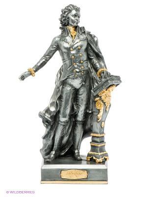 Статуэтка Моцарт Veronese. Цвет: темно-серый, золотистый