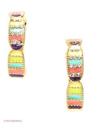 Серьги Lovely Jewelry. Цвет: золотистый, желтый, оранжевый