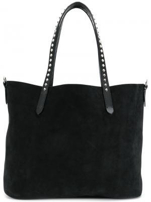 Studded handle tote bag Htc Hollywood Trading Company. Цвет: чёрный