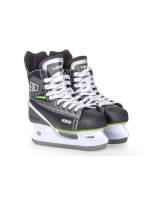 Коньки хоккейные Force Larsen. Цвет: черный, белый, серый