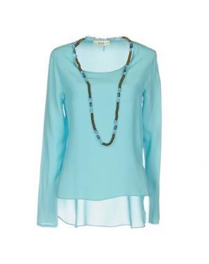 Блузка ELLA LUNA. Цвет: бирюзовый