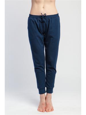 Штаны женские Джаз yogadress. Цвет: темно-синий