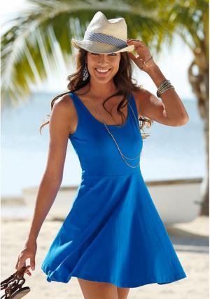Пляжное платье BEACH TIME. Цвет: коралловый, королевский синий