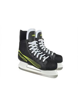 Коньки хоккейные Phantom Larsen. Цвет: черный, желтый, белый