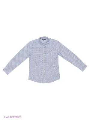 Сорочка Tommy Hilfiger. Цвет: светло-серый, серебристый, сиреневый