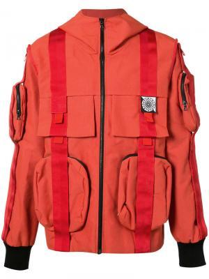 Куртка Velcro Anorak Christopher Raeburn. Цвет: красный