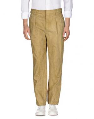 Джинсовые брюки ITINERIS. Цвет: охра