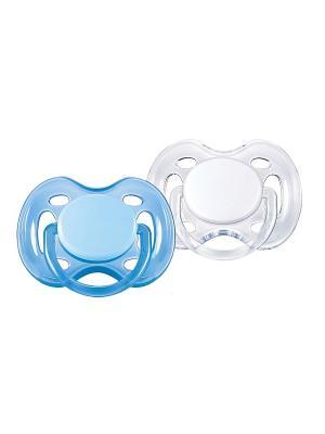 Пустышки Philips Avent серия Freeflow SCF178/23, 2 шт., 0-6 мес.. Цвет: прозрачный, голубой