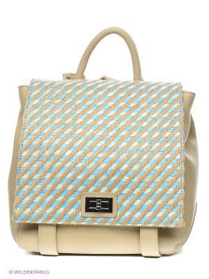 Сумка-рюкзак Pola. Цвет: кремовый, голубой