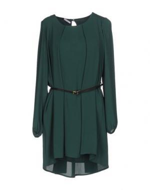 Короткое платье FLY GIRL. Цвет: цвет морской волны