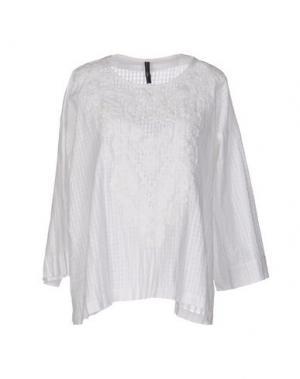 Блузка HIGH. Цвет: белый