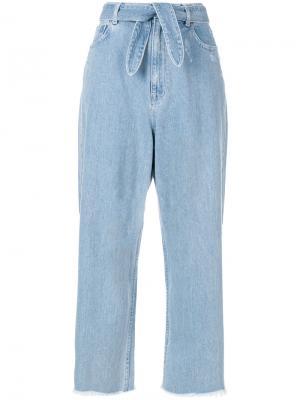 Укороченные расклешенные брюки Zimmermann. Цвет: синий