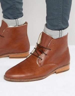 Bobbies Ботинки на меховой подкладке со шнуровкой LExplorateur. Цвет: коричневый