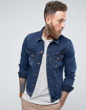Nudie Jeans Джинсовая куртка цвета темного индиго Co Billy. Цвет: синий