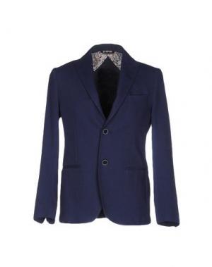 Пиджак VNECK. Цвет: синий