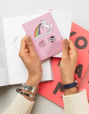 Veronica Dearly Свадебная открытка с единорогом. Цвет: мульти