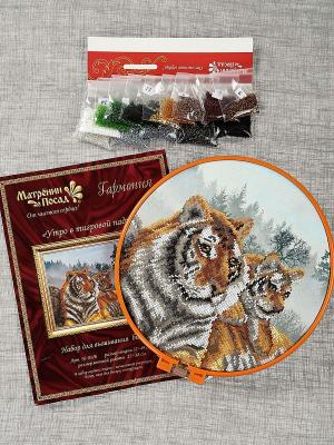 Набор для вышивания бисером Утро в тигровой пади Матренин Посад. Цвет: белый, серый, коричневый
