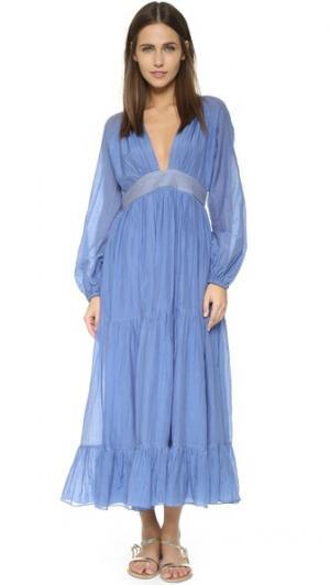 Макси-платье Greta Carolina K. Цвет: синий