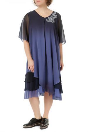 Платье LA MOUETTE. Цвет: синий