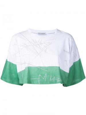 Укороченная футболка Vika Gazinskaya. Цвет: белый