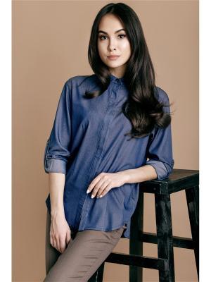 Рубашка Welldress. Цвет: темно-синий