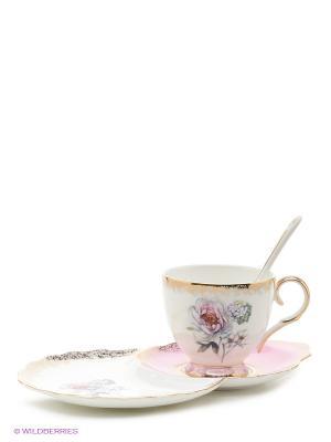 Чайная пара Цветок Неаполя (Fiore Napoli Pavone) Pavone. Цвет: белый