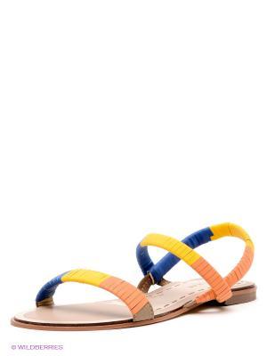 Сандалии Wilmar. Цвет: оранжевый, желтый, синий