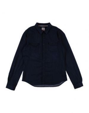Джинсовая рубашка IKKS. Цвет: синий