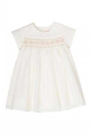 Комплект с платьем и трусами Bonpoint. Цвет: бежевый