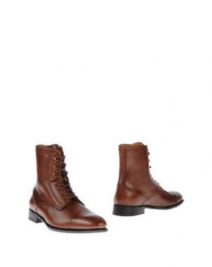 Полусапоги и высокие ботинки BORGIOLI. Цвет: коричневый