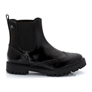 Ботинки без застежки в стиле челси ELLE. Цвет: черный