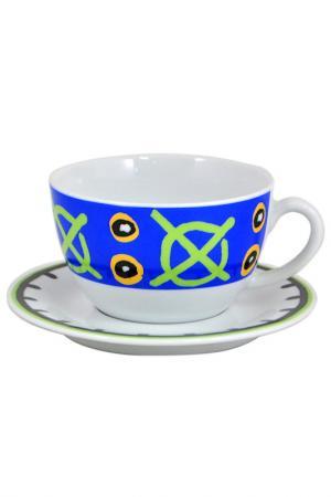 Чашка с блюдцем KAHLA. Цвет: мультиколор
