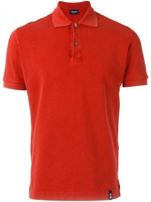 Рубашка-поло Drumohr. Цвет: красный