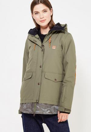 Куртка горнолыжная DC Shoes. Цвет: зеленый