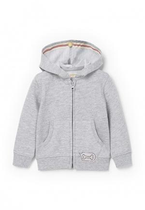 Куртка Mango Kids. Цвет: серый