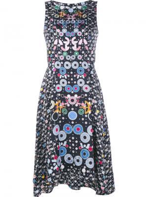 Трапециевидное платье с цветочным узором Peter Pilotto. Цвет: чёрный