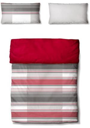 Двухстороннее постельное белье Arcos ECOREPUBLIC. Цвет: вишневый