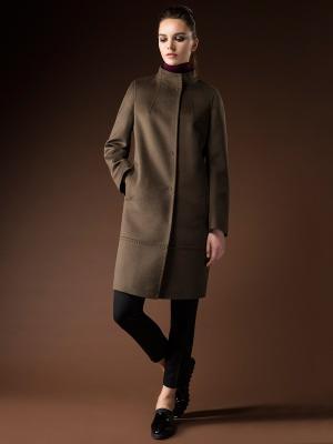 Пальто Pompa. Цвет: хаки