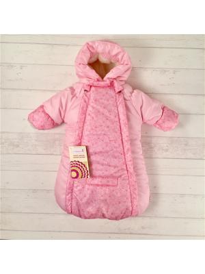 Конверт-комбинезон Розовые овечки СуперМаМкет. Цвет: розовый